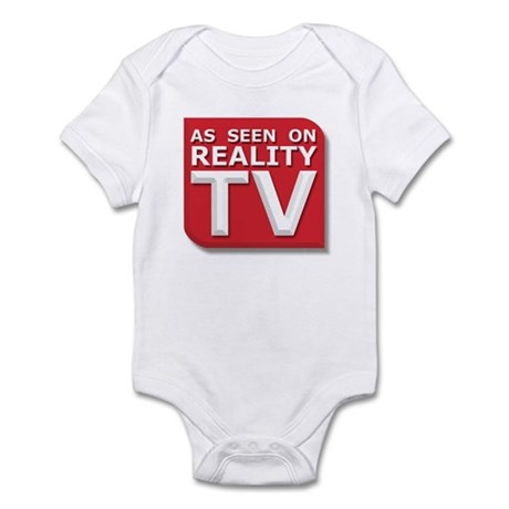 Funny As Seen on Reality TV Logo Infant Bodysuit