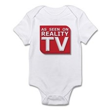 Funny As Seen on Reality TV Logo Infant Bodysuit