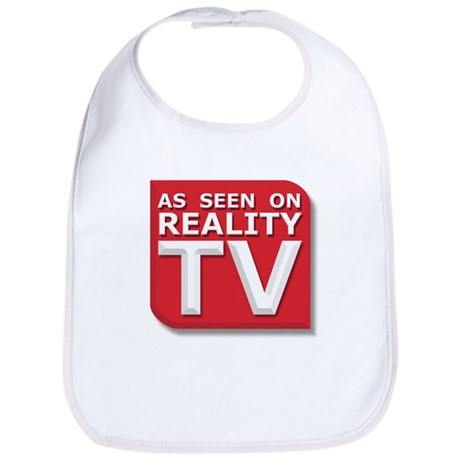 Funny As Seen on Reality TV Logo Bib