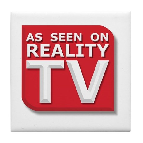 Funny As Seen on Reality TV Logo Tile Coaster