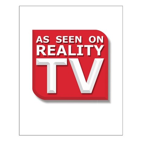 Funny As Seen on Reality TV Logo Small Poster