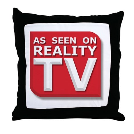 Funny As Seen on Reality TV Logo Throw Pillow