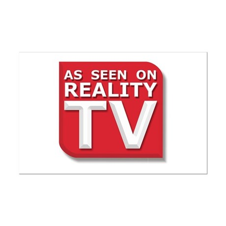 Funny As Seen on Reality TV Logo Mini Poster Print