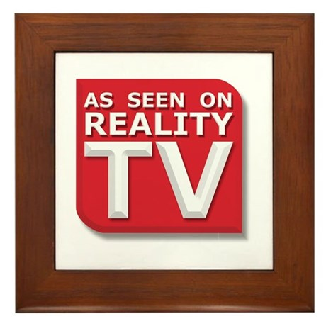 Funny As Seen on Reality TV Logo Framed Tile
