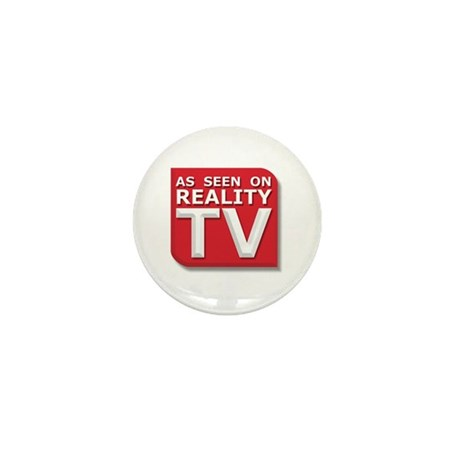 Funny As Seen on Reality TV Logo Mini Button (100