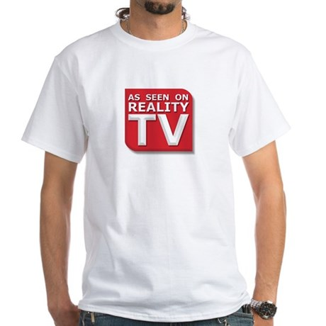 Funny As Seen on Reality TV Logo White T-Shirt