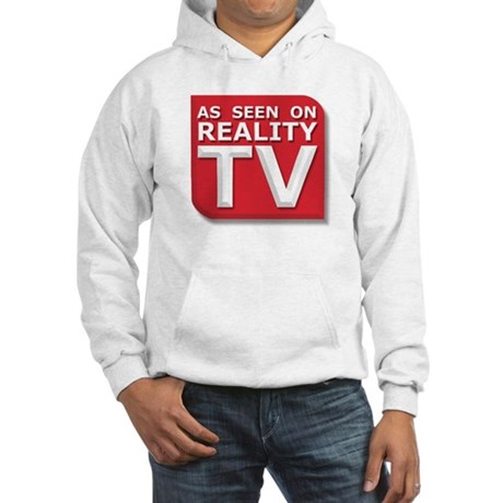 Funny As Seen on Reality TV Logo Hooded Sweatshirt