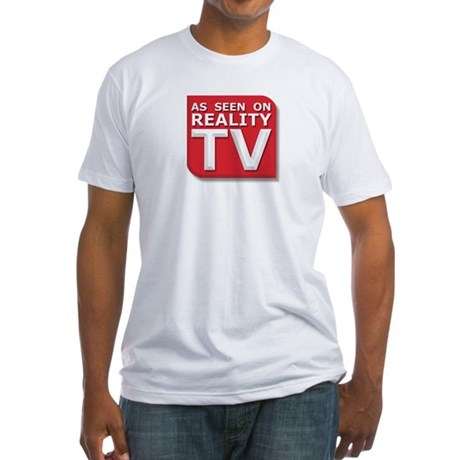 Funny As Seen on Reality TV Logo Fitted T-Shirt