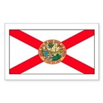 Florida Sunshine State Flag Rectangle Sticker