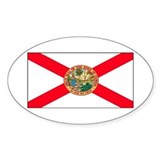 Florida Sunshine State Flag Oval Decal