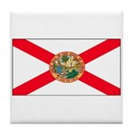 Florida Sunshine State Flag Tile Coaster