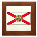 Florida Sunshine State Flag Framed Tile