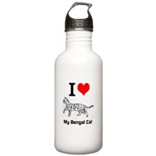 Bengal Cat Love Water Bottle