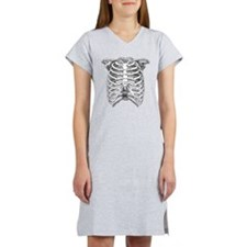 Ribcage Illustration Women's Nightshirt