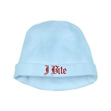 Text I Bite baby hat