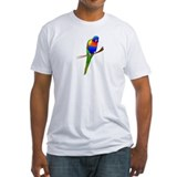 The Little Lorikeet fitted t-shirt