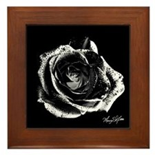 Black Rose Framed Tile
