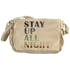 stay up all night Messenger Bag