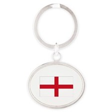 ENGLISH FLAG Oval Keychain