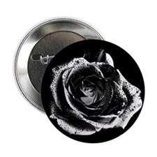 "Black Rose 2.25"" Button (100 pack)"