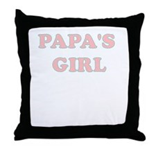 PAPAS GIRL Throw Pillow