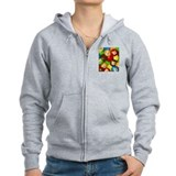 Corgi Candy Zip Hoodie