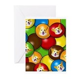 Corgi Candy Greeting Cards (Pk of 20)