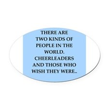 CHEERLEADERS Oval Car Magnet