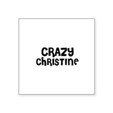 CRAZY CHRISTINE Oval Sticker