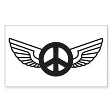 Peace Wing Original Rectangle Decal