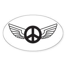 Peace Wing Original Oval Decal