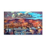 Santa Barbara Car Magnet 20 x 12