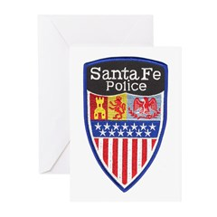 Santa Fe Police Greeting Cards (Pk of 10)