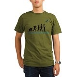 evolution of man with model plane T-Shirt