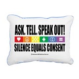 Ask-Tell-Speak-Out-LGBT.png Rectangular Canvas Pil