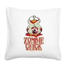 Zombie-Chick.png Square Canvas Pillow
