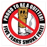 Quit smoking 5.25 x 5.25 Flat Cards