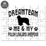 Polish Lowland Sheepdog Dog Designs Puzzle