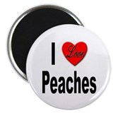I Love Peaches 2.25&quot; Magnet (10 pack)