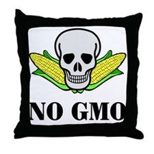 NO GMO Throw Pillow