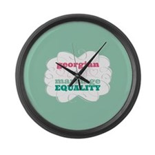 Georgian for Equality Large Wall Clock