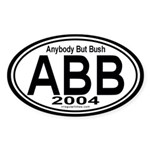 Anybody But Bush 2004 Auto Sticker (Oval