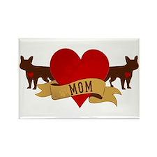 French Bulldog Mom Rectangle Magnet
