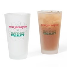 New Jerseyite for Equality Drinking Glass