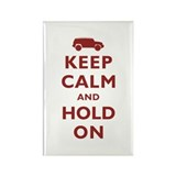 FJCruiser Keep Calm and Hold On Rectangle Magnet (