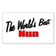 """""""The World's Best Nun"""" Rectangle Decal"""