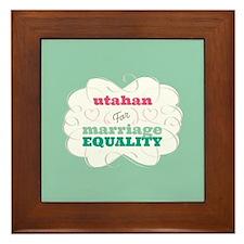 Utahan for Equality Framed Tile