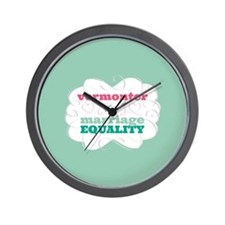 Vermonter for Equality Wall Clock