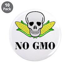 "NO GMO 3.5"" Button (10 pack)"