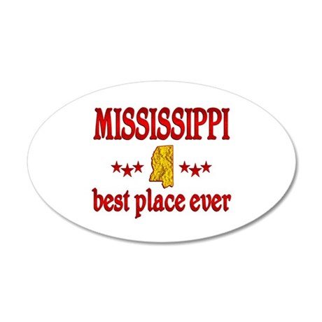 Mississippi Best 35x21 Oval Wall Decal